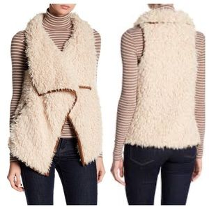 BB Dakota Kala Faux Shearling Waterfall Vest S